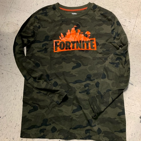 7d5779bb37e2 Old Navy Shirts & Tops | New Camouflage Orange Ls Fortnite No Offers ...